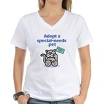 Special-Needs Pet (Cat) Women's V-Neck T-Shirt