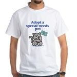 Special-Needs Pet (Cat) White T-Shirt