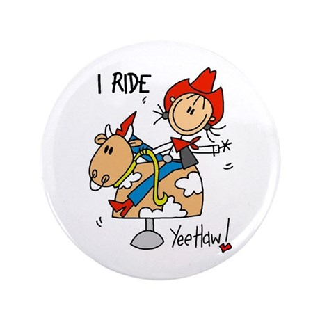 """I Ride 3.5"""" Button (100 pack)"""