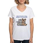 Don't Breed Women's V-Neck T-Shirt