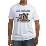 Don't Breed Fitted T-Shirt