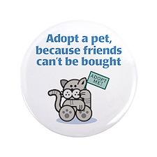 """Adopt a Pet (Cat) 3.5"""" Button"""