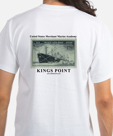 WWII USMM Stamp White T-Shirt