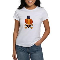 Skull and Bones Pumpkin Women's T-Shirt