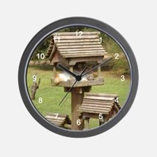 Naptime - Cat in Birdhouse Wall Clock