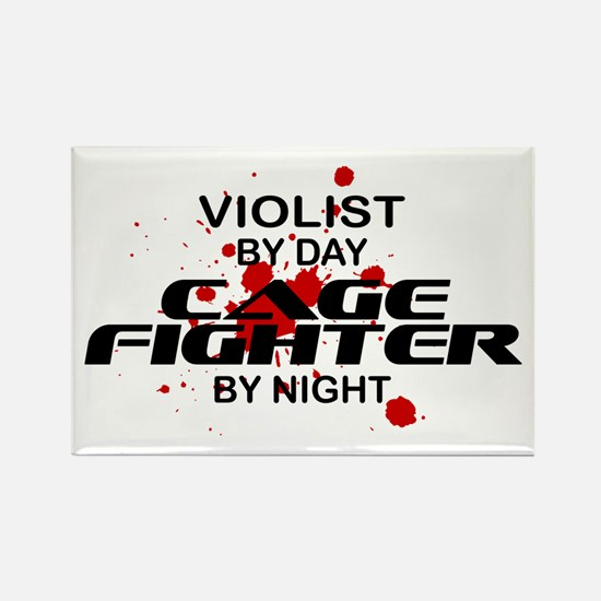 Violist Cage Fighter by Night Rectangle Magnet