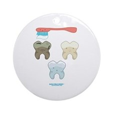 Kawaii Teeth Trio Ornament (Round)