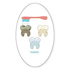 Kawaii Teeth Trio Oval Decal