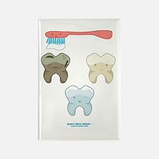 Kawaii Teeth Trio Rectangle Magnet