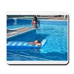 Girls at Pool Mousepad