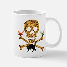 Halloween Leopard Skull Mug