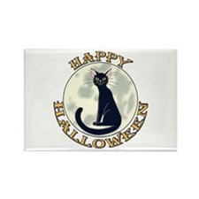 Halloween Black Cat Rectangle Magnet