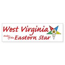 West Virginia Eastern Star Bumper Bumper Sticker