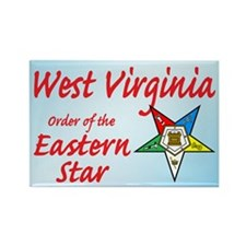 West Virginia Eastern Star Rectangle Magnet