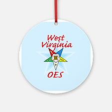 West Virginia Eastern Star Ornament (Round)