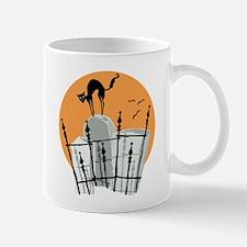 Halloween Cemetery Cat Mug