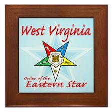 West Virginia Eastern Star Framed Tile