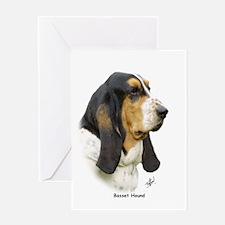 Basset Hound 9P013D-41 Greeting Card