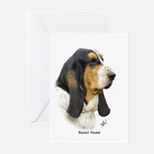 Basset Hound 9P013D-41 Greeting Cards (Pk of 10)