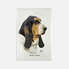 Basset Hound 9P013D-41 Rectangle Magnet (100 pack)