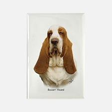 Basset Hound 9L9D-22 Rectangle Magnet (100 pack)