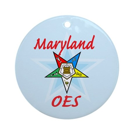 Maryland Eastern Star Ornament (Round)