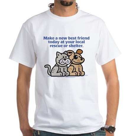 Best Friend White T-Shirt