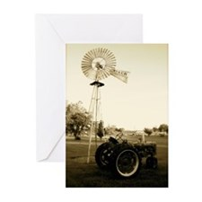 Windmill & Tractor Greeting Cards (Pk of 20)