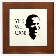 Obama's Face: Framed Tile