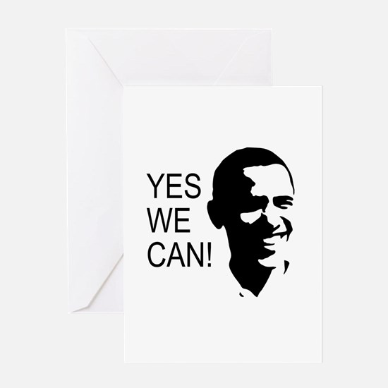Obama's Face: Greeting Card