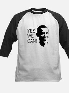 Obama's Face: Kids Baseball Jersey