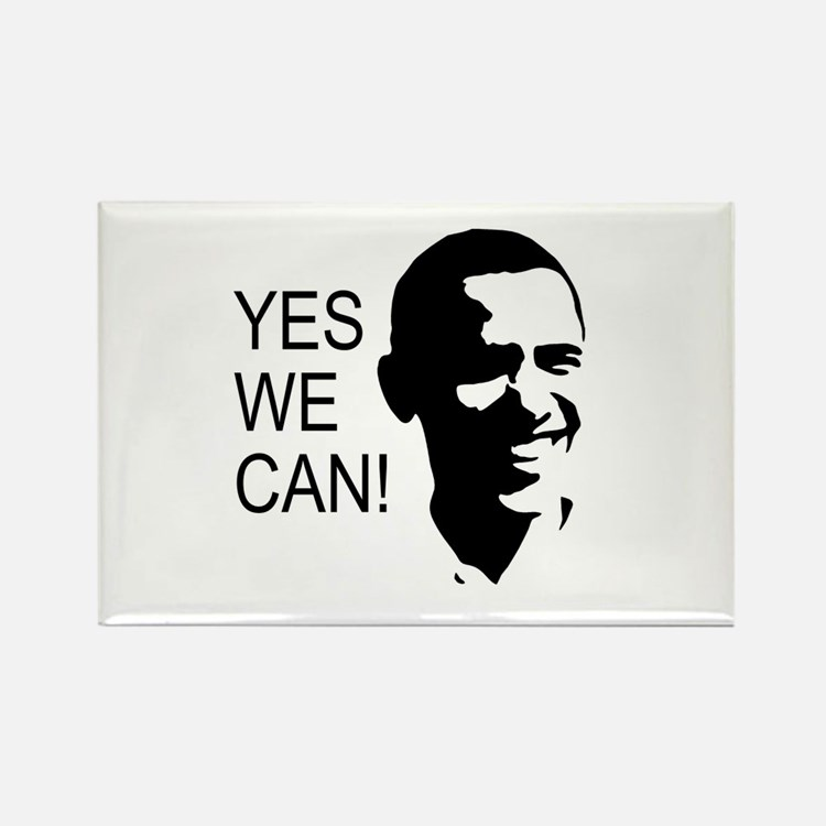 Obama's Face: Rectangle Magnet