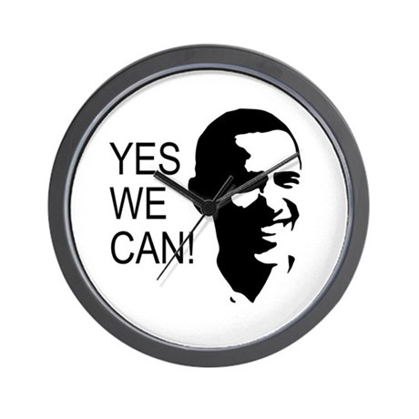 Obama's Face: Wall Clock