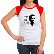 Obama's Face: Women's Cap Sleeve T-Shirt