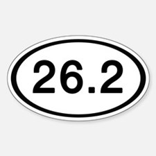 26.2 Oval Sticker (10 pk)