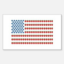 Fruit American Flag Rectangle Decal
