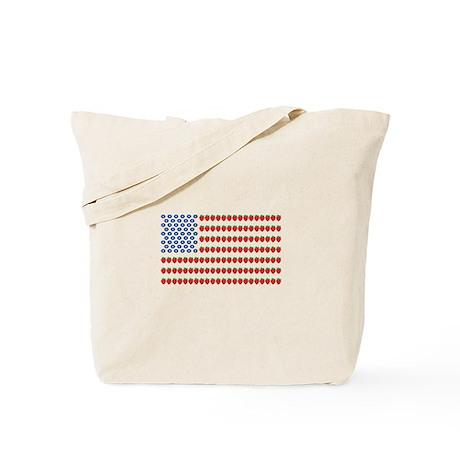 Fruit American Flag Tote Bag