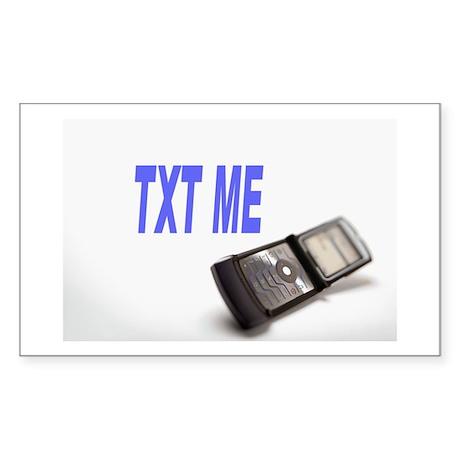 TXT ME Rectangle Sticker