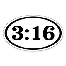 3:16 Oval Decal