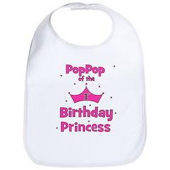 1st Birthday Princess's PopPo Bib