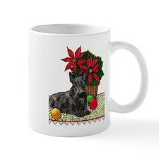 Scotty and Poinsettia Mug