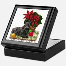Scotty and Poinsettia Keepsake Box
