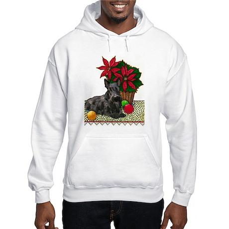 Scotty and Poinsettia Hooded Sweatshirt