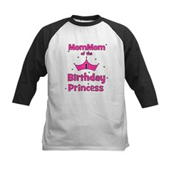 1st Birthday Princess's MomMo Kids Baseball Jersey