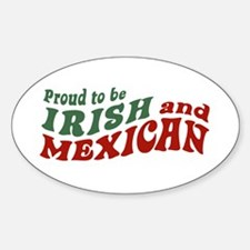 Proud Irish Mexican Oval Decal