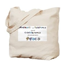 Cute Coexistence Tote Bag