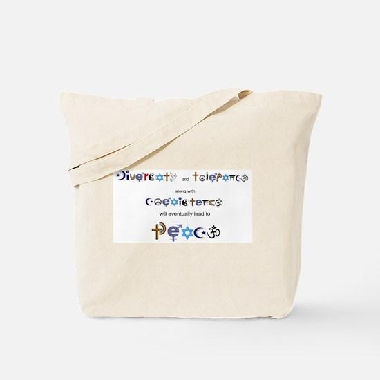 Cute Coexistence Tote Bag