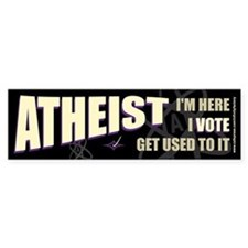 Atheist I Vote Bumper Bumper Sticker