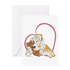 NFQN Heartline Teddy Hug Greeting Card