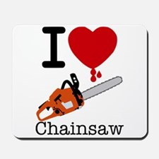 I Heart Chainsaw Mousepad